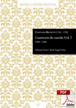 Brunetti | String quartets Vol. 7 DIGITAL