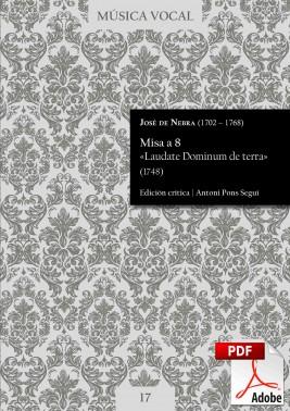 Nebra | Mass «Laudate Dominum de terra» DIGITAL