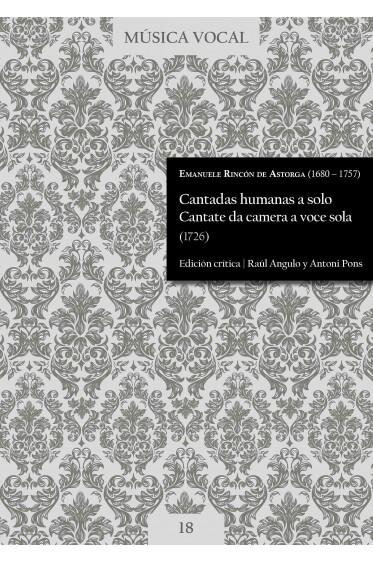 Rincón de Astorga | Cantadas humanas. Cantate da camera