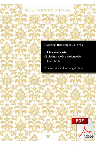 Brunetti | 5 Divertimenti di violino, viola e violoncello DIGITAL