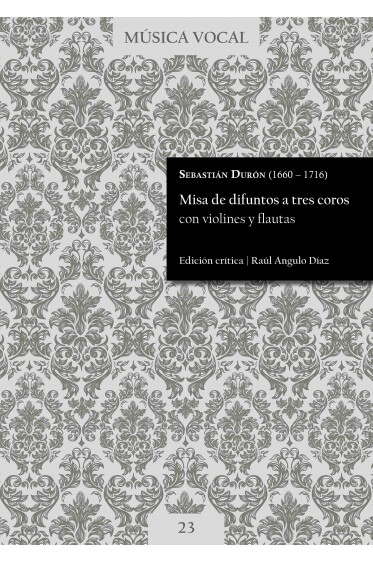 Durón | Requiem mass for three choirs with violins and flutes