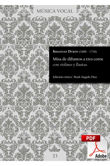Durón | Requiem mass for three choirs with violins and flutes DIGITAL