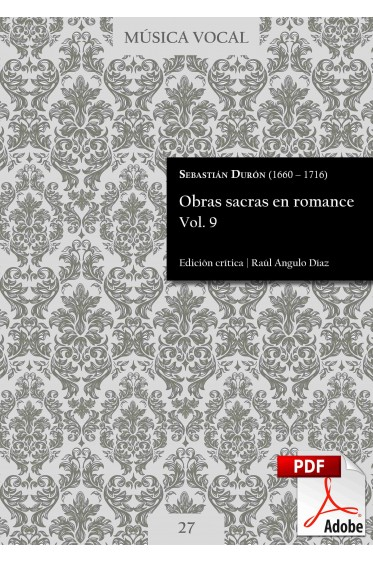 Durón | Sacred works in Romance language Vol. 9 DIGITAL