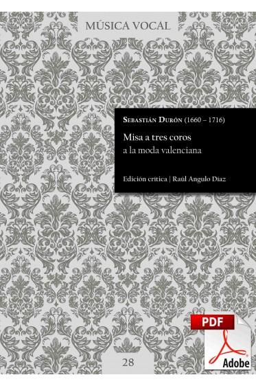 Durón | Misa a tres coros a la moda valenciana DIGITAL
