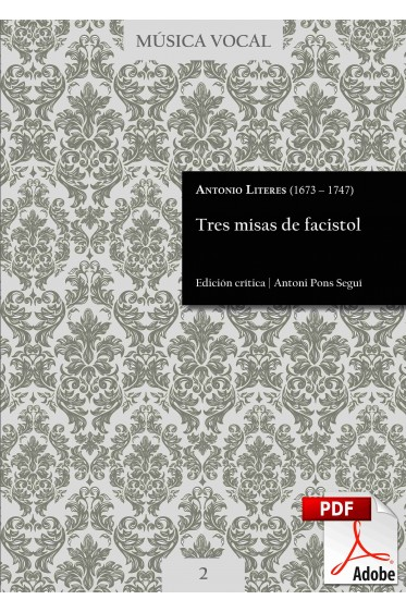 Literes | Three choirbook masses DIGITAL
