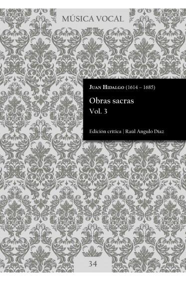 Hidalgo   Sacred works Vol. 3