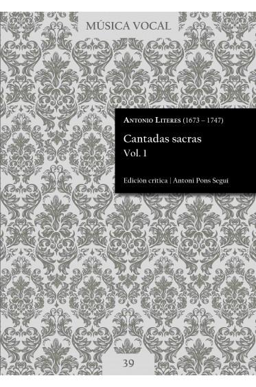 Literes   Cantadas sacras Vol. 1