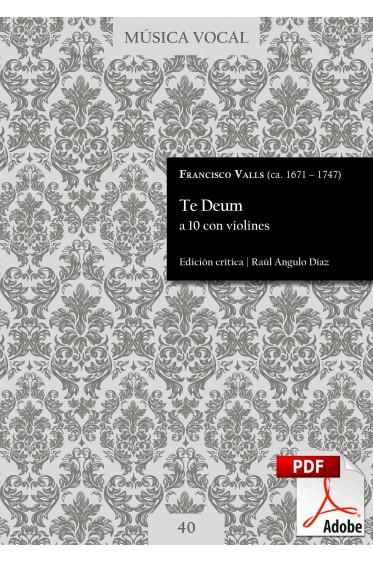 Valls   Te Deum a 10 con violines