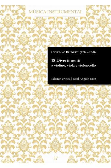 Brunetti | 18 Divertimenti a violino, viola e violoncello