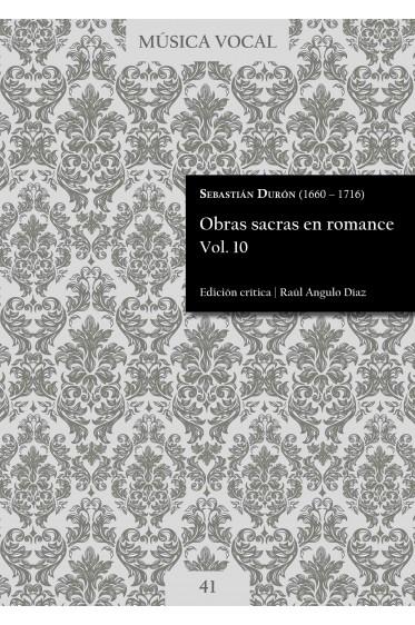 Durón | Obras sacras en romance Vol. 10