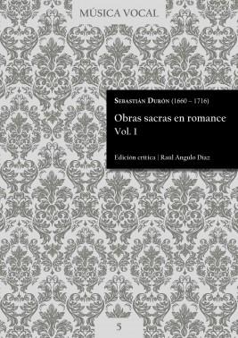 Durón | Sacred works in Romance language Vol. 1