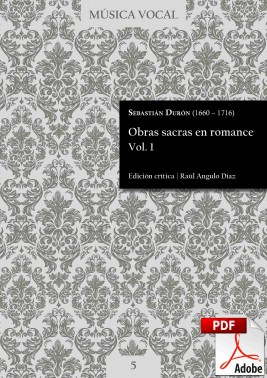 Durón | Sacred works in Romance language Vol. 1 DIGITAL