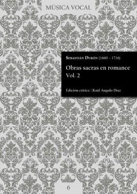 Durón | Obras sacras en romance Vol. 2