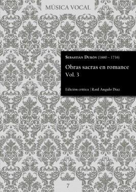 Durón | Obras sacras en romance Vol. 3