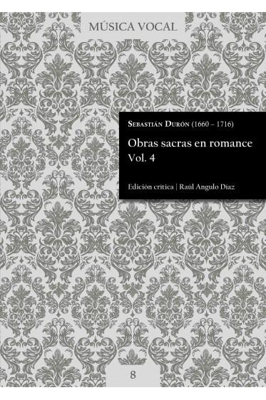 Durón | Obras sacras en romance Vol. 4