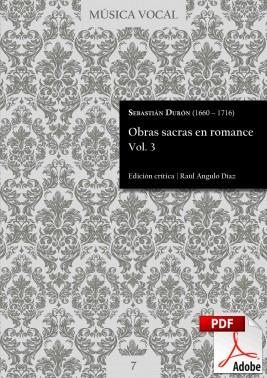 Durón | Obras sacras en romance Vol. 3 DIGITAL