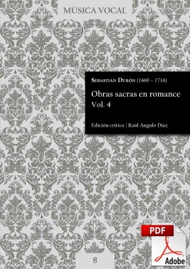Durón | Obras sacras en romance Vol. 4 DIGITAL