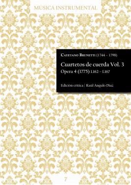 Brunetti | Cuartetos de cuerda Vol. 3