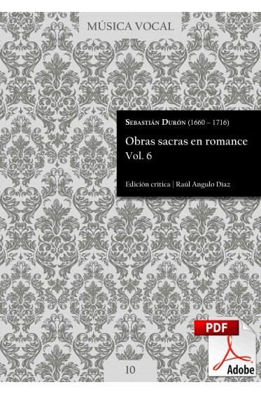 Durón | Obras sacras en romance Vol. 6 DIGITAL