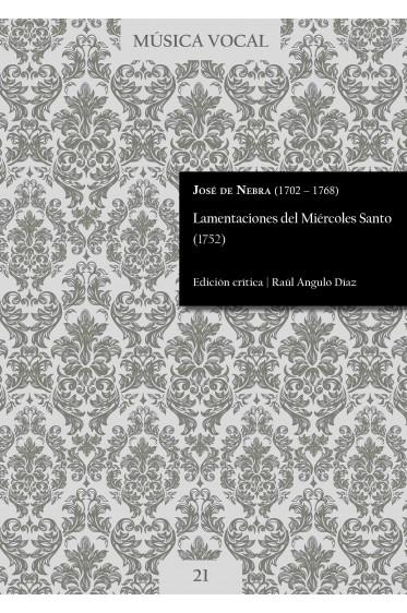 Nebra | Lamentations for Holy Wednesday (1752)