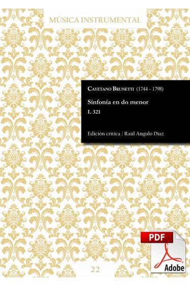 Brunetti | Sinfonía en do menor L 321 DIGITAL