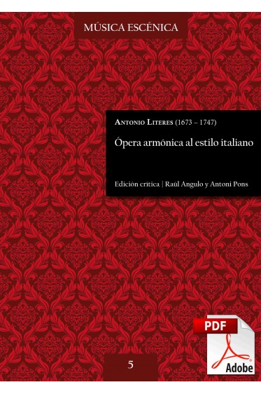 Literes | Ópera armónica al estilo italiano DIGITAL