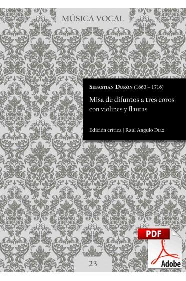 Durón | Misa de difuntos a tres coros con violines y flautas DIGITAL