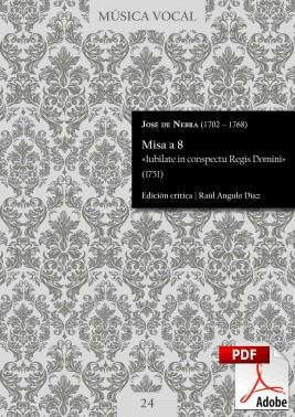 Nebra | Mass «Iubilate in conspectu Regis Domini» DIGITAL