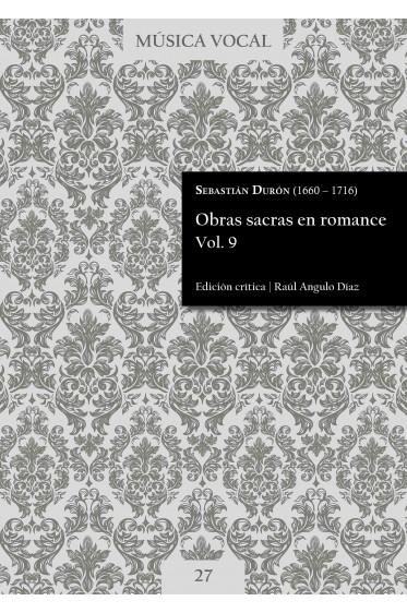 Durón | Obras sacras en romance Vol. 9