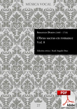 Durón | Sacred works in Romance language Vol. 9 DIGITAL
