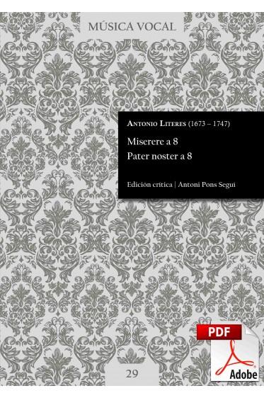 Literes | Miserere a 8. Pater noster a 8 DIGITAL