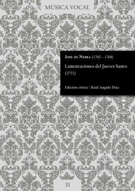 Nebra | Lamentaciones del Jueves Santo (1753)