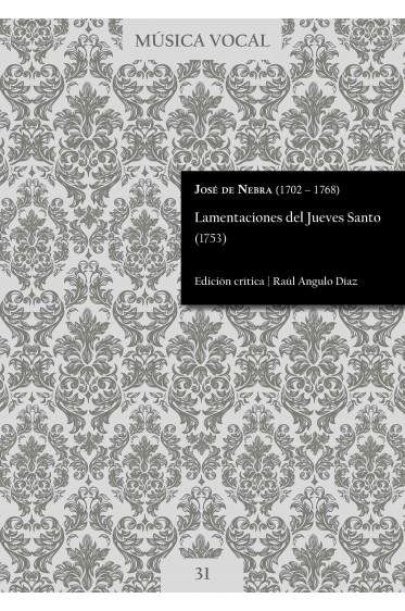 Nebra | Lamentations for Holy Thursday(1753)