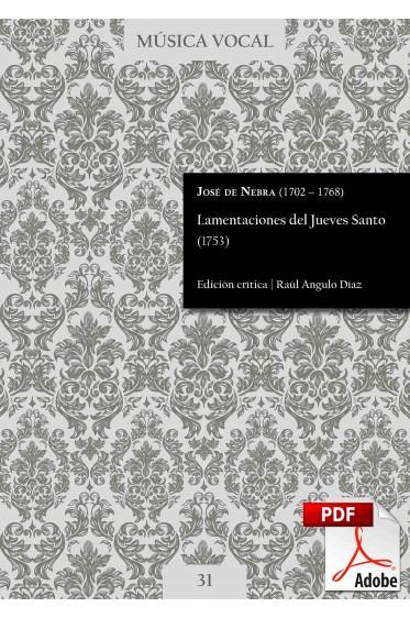 Nebra | Lamentations for Holy Thursday (1753) DIGITAL