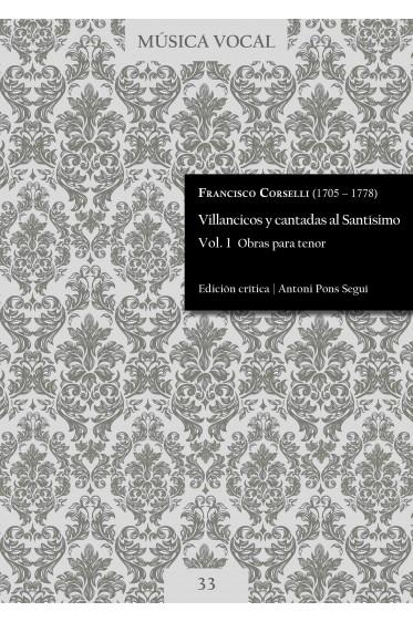 Corselli | Villancicos y cantadas al Santísimo Vol. 1