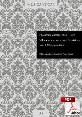 Corselli | Villancicos and cantatas to the Holy Sacrament  Vol. 1 DIGITAL