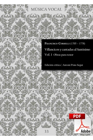 Corselli | Villancicos and cantatas to the Holy Sacrament  Vol. 1 DIGITAL