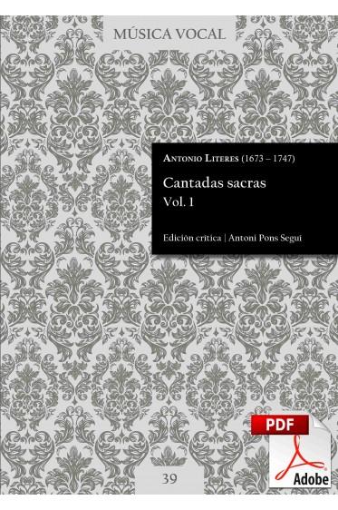 Literes | Cantadas sacras Vol. 1