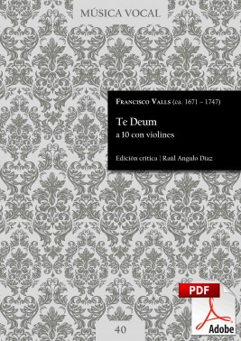 Valls | Te Deum for 10 voices with violins DIGITAL