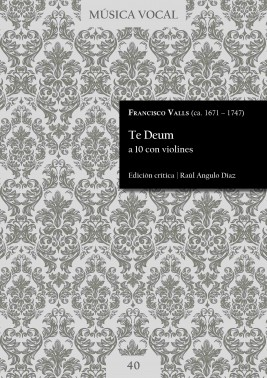 Valls | Te Deum for 10 voices with violins