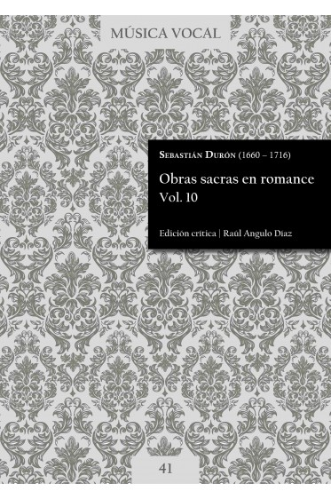 Durón | Sacred works in Romance language Vol. 10