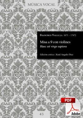 Valls | Misa a 9 con violines «Haec est virgo sapiens»