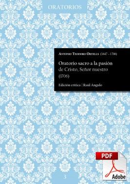 Ortells | Oratorio sacro a la pasión de Cristo, Señor nuestro DIGITAL