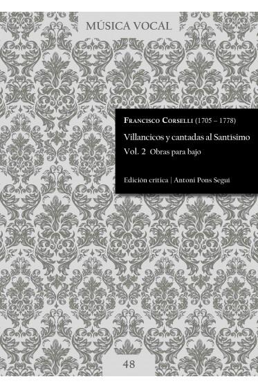 Corselli | Villancicos y cantadas al Santísimo Vol. 2