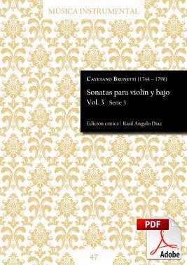 Brunetti | Sonatas para violín y bajo Vol. 3 DIGITAL