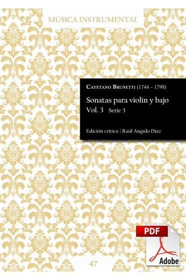 Brunetti | Sonatas para violín y bajo Vol. 3