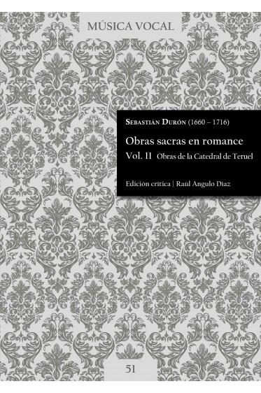Durón   Obras sacras en romance Vol. 11