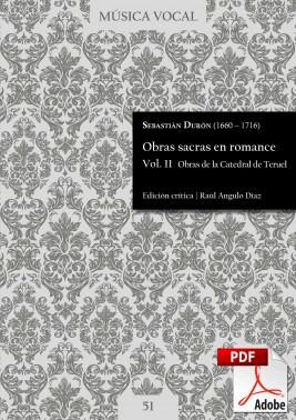 Durón | Obras sacras en romance Vol. 11