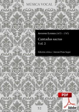 Literes | Cantadas sacras Vol. 2 DIGITAL