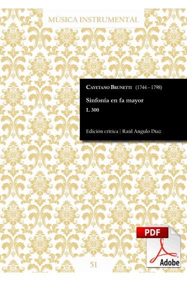 Brunetti | Sinfonía en fa mayor L 300